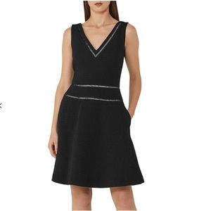NWOT Reiss black nelly a line party dress